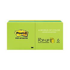 Post-it Pop-up Notes - Original Pop-up Refill, 3 x 3, Three Ultra Colors, 100/Pad -  6 Pads/Pack