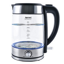 Aroma Professional Glass Tea Kettle, 7 Cup (with Temperature Dial)