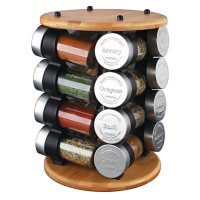 Olde Thompson Bamboo Spice Rack with 16 Spices