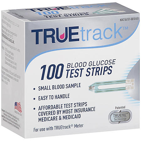 True Track 100 Blood Glucose Test Strips - Sam's Club