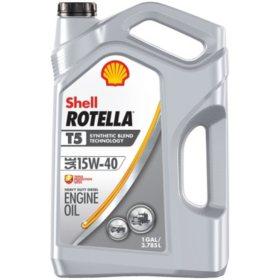Shell Rotella T5 15W-40 Synthetic Blend Heavy-Duty Diesel Engine Oil, (3 pk., 1 gallon per case)