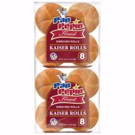 Pan Pepin Enriched Kaiser Rolls (19oz / 2pk)