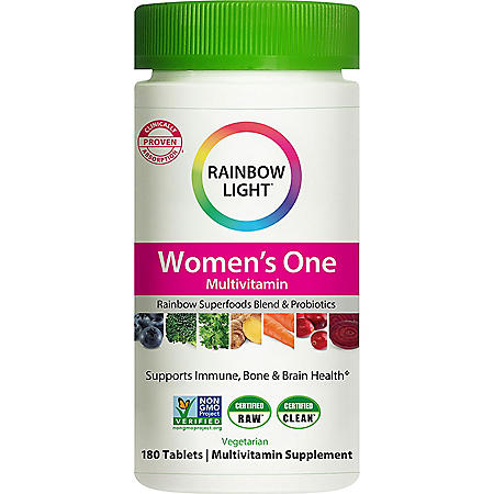 Rainbow Light Women's One Non-GMO Project Verified Multivitamin Plus Superfoods & Probiotics (180 ct.)