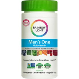 Rainbow Light Men's One Non-GMO Project Verified Multivitamin Plus Superfoods & Probiotics (180 ct.)