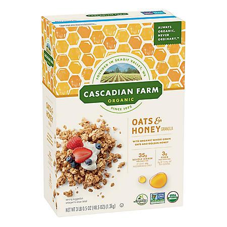 Cascadian Farm Organic Oats & Honey Granola Cereal (48.5 oz.)