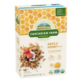 Cascadian Farm Organic Oats & Honey Granola Cereal (48.5 oz.)