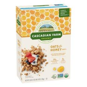 Cascadian Farm Organic Oats and Honey Granola Cereal (48.5 oz.)