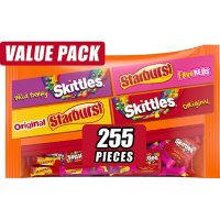 Skittles and Starburst Fun Size Bulk Chewy Halloween Candy Variety (104.4 oz., 255 ct.)