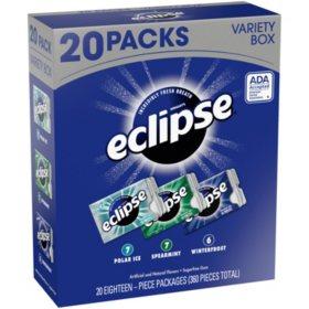 Eclipse Sugar-free Gum Variety Box (20 pk.)