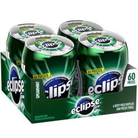 Eclipse Spearmint Sugar-free Gum (4 bottles)