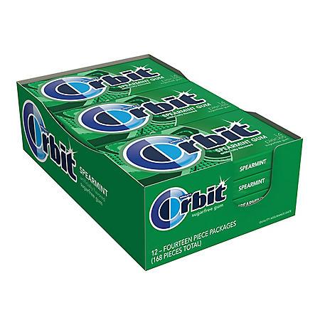 Orbit Gum Spearmint (14 ct., 12 pks.)