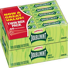 Wrigley's Doublemint Chewing Gum (5 stick pack, 40 pks.)