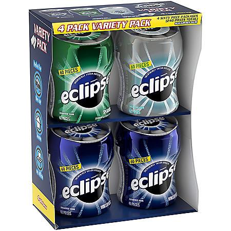 Eclipse Gum Bottle Variety Pack (60 ct., 4 pks.)