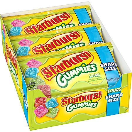 Starburst Sour Gummies Candy (3.5 oz., 15 pk.)