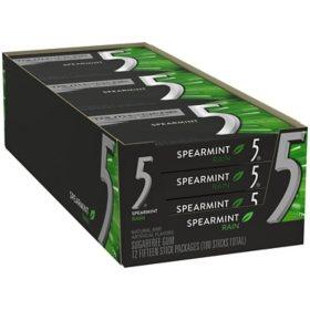 Wrigley's 5 Gum Spearmint Rain (15 ct., 12 pk.)