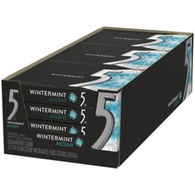 Wrigley's 5 Gum Wintermint Ascent (15 ct., 12 pk.)