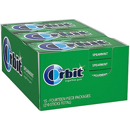 Orbit Spearmint Sugar-Free Gum (14 ct., 15 pks.)