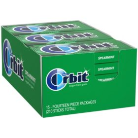 Orbit Spearmint Sugar-Free Gum (14 ct., 15 pks.)