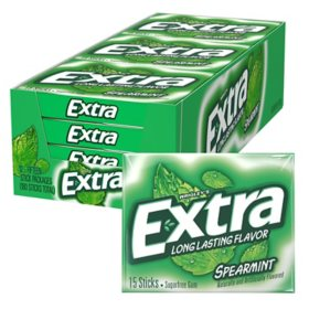 Extra Spearmint Sugar-Free Gum (15 ct., 12 pks.)