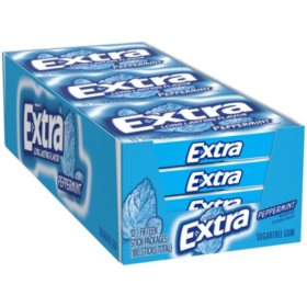 Extra Peppermint Sugar-Free Gum (15 ct., 12 pks.)