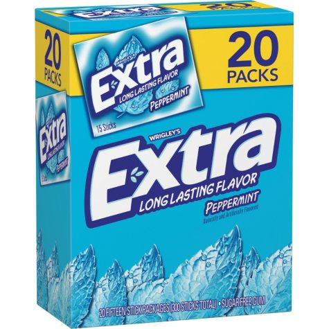 Extra Peppermint Gum (15 per pk., 20 pk.)
