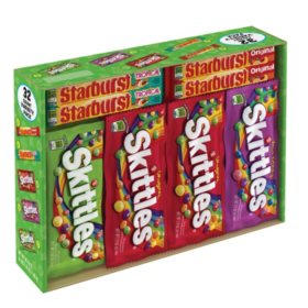 Starburst and Skittles Fruity Candy Variety Box(4.17 lbs., 32 ct.)
