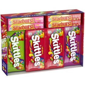 Skittles and Starburst Fruity Candy Variety Box (32 ct.)