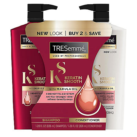 TRESemme Keratin Smooth with Marula Oil Shampoo and Conditioner (28 fl. oz. each)