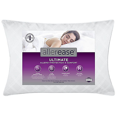 AllerEase Ultimate Protection and Comfort Down-Alternative Pillow (Various Sizes)