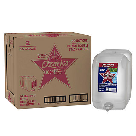 Ozarka 100% Natural Spring Water (2.5gal / 2pk)