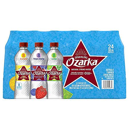Ozarka Sparkling Spring Water Variety Pack (16.9oz / 24pk)