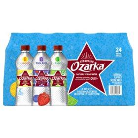 Ozarka Sparkling Spring Water, Assorted Flavors (16.9 oz., 24 pk.)