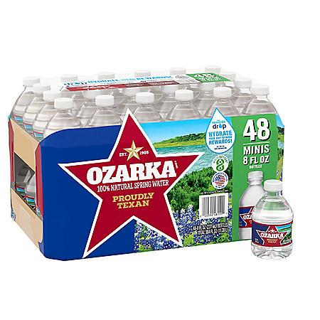 Ozarka 100% Natural Spring Water (8oz / 48pk)