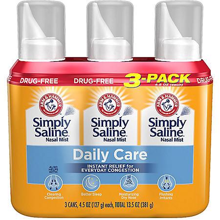 Arm & Hammer Simply Saline Nasal Relief (4.5 oz., 3 pk.)