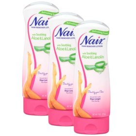 Nair Hair Remover Lotion Aloe & Lanolin (9 oz., 3 pk.)