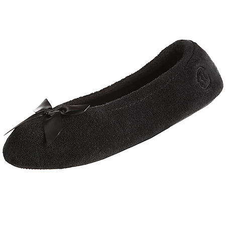 Isotoner Women's Terry Ballerina Slippers