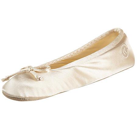 d7507d91481 Isotoner Women s Satin Ballerina Slippers - Sam s Club