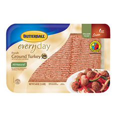 Case Sale: Butterball All Natural Fresh Ground Turkey (2.5 lb. pkg., 4 ct.)