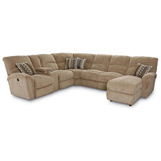 Lane Furniture Robert 4-Piece Reclining Sectional Sofa with Chaise, Beige