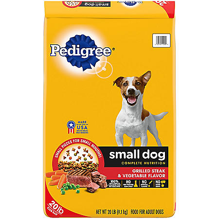 Pedigree Small Dog Targeted Nutrition, Steak and Vegetable Dry Dog Food (20 lbs.)