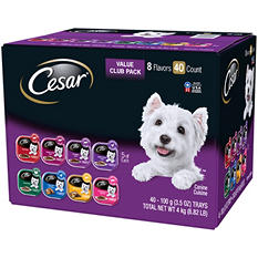 Cesar Canine Cuisine Wet Dog Food, Variety Pack (3.5 oz., 40 ct.)