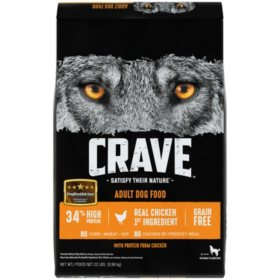 Crave Adult High-Protein Grain-Free Dry Dog Food, Chicken (22 lb.)