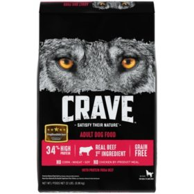 Crave Adult High-Protein Grain-Free Dry Dog Food, Beef (22 lb.)