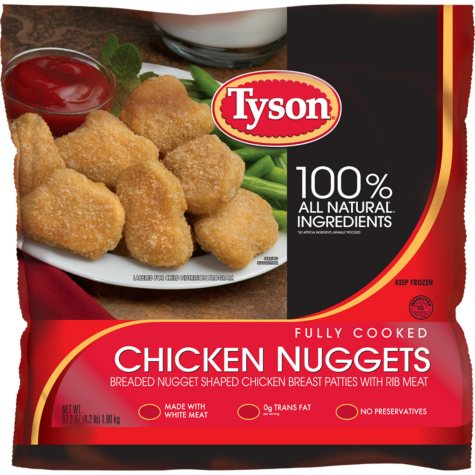 Tyson Chicken Nuggets - 67.2 oz. bag