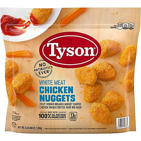 Tyson Chicken Nuggets, Frozen (5 lbs.)