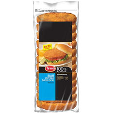 Tyson Fully Cooked Breaded White Meat Chicken  Patties  (3.75 lb. bag)