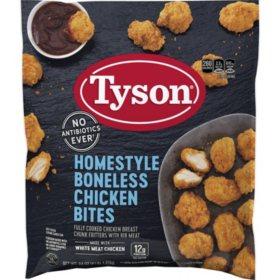 Tyson Homestyle Boneless Chicken Bites, Frozen (4 lb.)