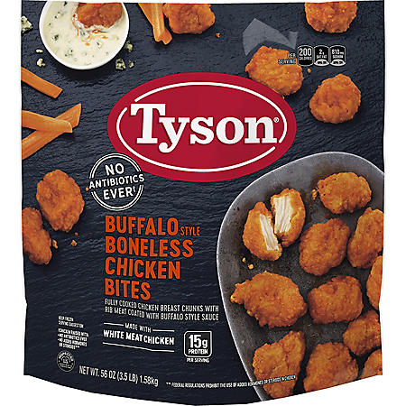 Tyson Buffalo Style Boneless Chicken Bites, Frozen (3.5 lbs.)