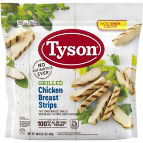 Tyson Grilled and Ready Chicken Breast Strips, Frozen (3 lb.)