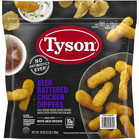 Tyson Beer Battered Chicken Dippers, Frozen (3 lbs.)